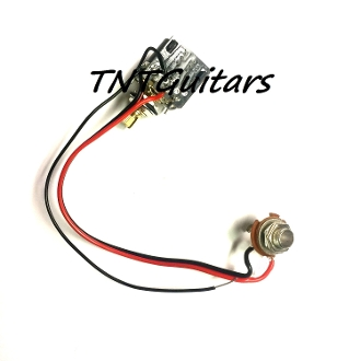 1v one pickup wiring harness ~ cts push pull pot guitar flying v wiring diagram