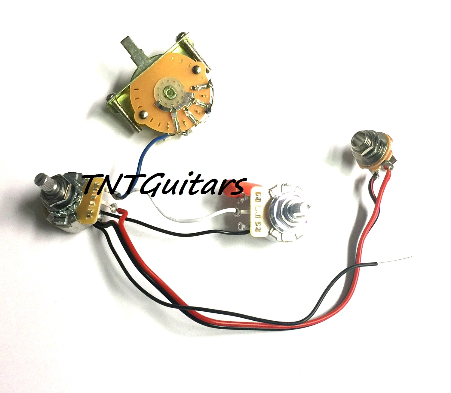 1v1t Prewired Harness 2 Pickup Cts Pots Hh Hs 3 Way Fender Switch Guitar Wiring Volume Tone 3way Jack