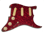 Pro Series Pickguard DFDG, DF-SA, EXP and BCU, White, Active AlNiCo Pickup Build, Loaded Strat SSS Guard, Prewired Pickguard, Choice of Colors and Options, Custom Cut & Designed, Loaded Effects & Upgrades