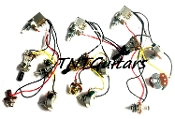 2V1T Prewired Harness, 2 Pickup PUSH-PULL Coil Split 3Way Toggle Switch