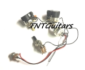 2V1T Prewired Harness, 2 Pickup CTS DUAL PUSH-PULL Coil Split 3Way Toggle