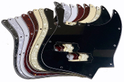 Jazz Bass Pickguard, P Bass Pickup Style Rout, 4 String / 10 Hole Style, Choice of Colors ~ Routed for P-Bass Pickup style. Will work with standard sized P-Bass pickups. These guards are an inexpensive way to dress up your bass.