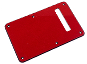 Strat Trem Cover, 3 Ply RED - BLACK - RED (RBR Red)