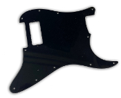 Custom Designed Mini Bucker Pickguard, Brand New Strat Guard Built to Order for Mini Humbucker Pickups, Choose Your Own Unique Guard Design and 1-4 Mini Humbucker Pickup Routs for One Hum, Double Hum, Triple Hum or Quad Hum Design